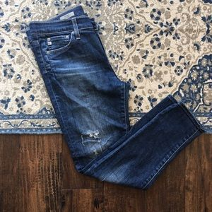 AG Beau Slouchy Skinny Distressed Jeans Size 28